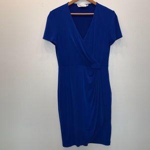 Eliza J Elegant Royal Blue Faux Wrap Dress 8
